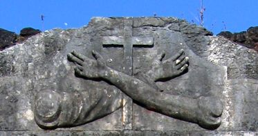 Ruínas da Igreja de São Francisco em Alcântara (Maranhão): emblema franciscano
