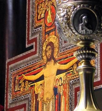 detalhe do crucifixo bizantino