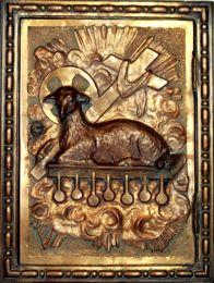 Paróquia Santo Agostinho - porta de sacrário (O cordeiro no Apocalipse)