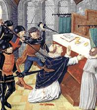 assassinato de S�o Thomas Becket - iluminura